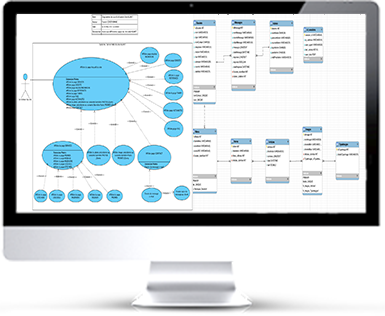 écran de conception et modélisation du projet