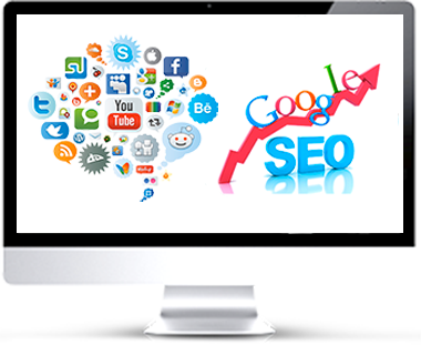 écran les services web marketing et seo