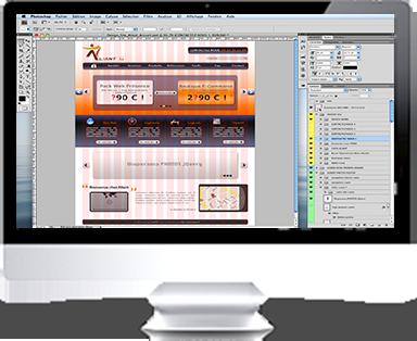 écran le design du site web