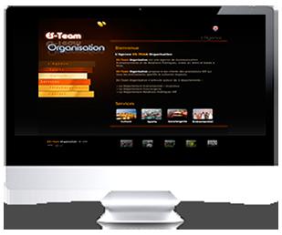 écran du site Internet ES-Team 2009 par Franck Cord'Homme pour RivieraCreations.com