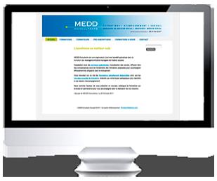 écran du site Internet Medd Consultant Association par Franck Cord'homme 2011