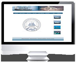 écran du site Internet MYBA Association par Franck Cord'homme 2006