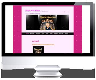 écran du site Internet Nicole Mour par Franck Cord'homme 2013 pour RivieraCreations.com