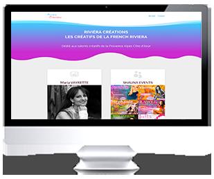 écran du site Internet RivieraCreations.com par Franck Cord'Homme WebmasterTuto 2018