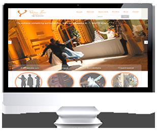 écran du site Internet de Valerie Tassi Events 2013 par Franck Cord'homme via RivieraCreations.com