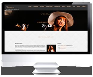 écrans du site Internet de Vanina Aronica par Franck Cord'homme pour RivieraCreations.com