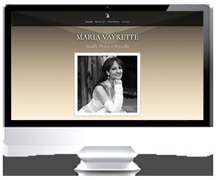 écran iMac du site Internet de Maria VAYRETTE Modèle Photos Marseille sur Riviera-Creations