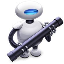 image du logiciel Automator d'Apple pour réer des scripts Apple